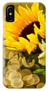 Sunflower And The Lights IPhone Case