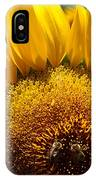 Sunflower And Two Bees IPhone Case