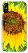 Sunflower And Visitors IPhone Case