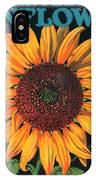 Sunflower Brand Crate Label IPhone Case