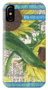 Sunflower Dictionary 1 IPhone Case