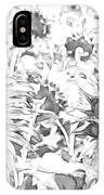 Sunflower Drawing IPhone Case