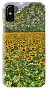 Sunflower Fields Ford World Headquarters Dearborn Mi IPhone Case