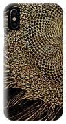 Sunflower Gold Leaf Sketch IPhone Case