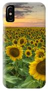 Sunflower Images - A Field Of Golden Texas Wildflowers IPhone Case