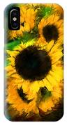 Sunflower In Motion IPhone Case