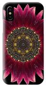 Sunflower Moulin Rouge I Flower Mandala IPhone Case