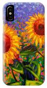 Sunflower Scape IPhone Case