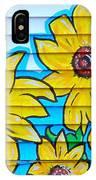 Sunflower Street Art Saint Johns Nfld IPhone Case
