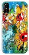 Sunflower Study Painting IPhone Case
