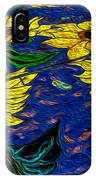 Sunflower Tiled Oil Painting IPhone Case
