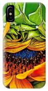 Sunflower Volunteer Half Bloom IPhone Case