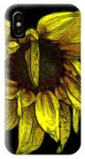 Sunflower With Contours Effect IPhone Case