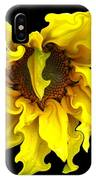 Sunflower With Curlicues Effect IPhone Case