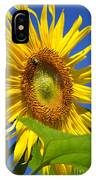 Sunflower With Honeybee IPhone Case