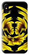 Sunflower With Warp And Polar Coordinates Effects IPhone Case