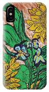 Sunflowers And Irises IPhone Case