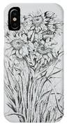 Sunflowers Black And White IPhone Case