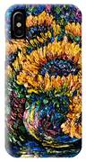 Sunflowers Bouquet In Vase IPhone Case