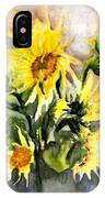 Sunflowers In Abstract IPhone Case