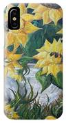 Sunflowers In An Antique Country Pot IPhone Case