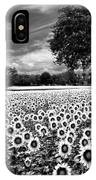 Sunflowers In Black And White IPhone Case