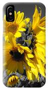 Yellow Selected Sunflowers IPhone Case