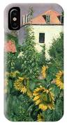 Sunflowers In The Garden At Petit Gennevilliers  IPhone Case