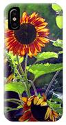 Sunflowers In The Park IPhone Case