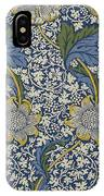 Sunflowers On Blue Pattern IPhone Case