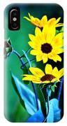 Sunflowers Portrait IPhone Case