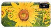 Sunflowers - Red Barn - Pennsylvania IPhone Case