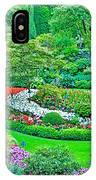 Sunken Garden In Butchart Gardens Near Victoria-british Columbia IPhone Case