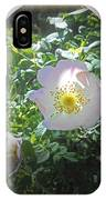Sunlight On The Wild Pink Rose IPhone Case