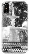 Sunlight Through Savannah Fountain With Vignette IPhone Case