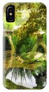 Sunlit Bridge In Park IPhone Case