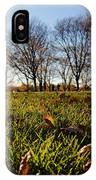 Sunlit Fall Lawn IPhone Case