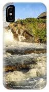 Sunlit Rapids In Glacier IPhone Case