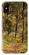 Sunlit Woods In Late Autumn IPhone Case