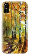 Sunny Birches - Palette Knife Oil Painting On Canvas By Leonid Afremov IPhone Case
