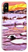 Sunrise On A Cold Day IPhone Case