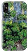 Suns Rays - Forest - Steel Engraving IPhone Case