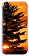 Sunset And Pine Tree  IPhone Case