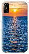 Sunset At Sea With Multiple Color Prizm IPhone Case