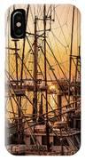 Sunset Boat Masts At Dock Morro Bay Marina Fine Art Photography Print Sale IPhone Case