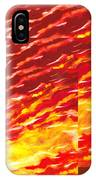 Sunset In Desert Abstract Collage  IPhone Case