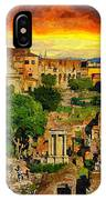 Sunset In Rome IPhone X Case