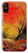 Sunset In The Wood IPhone Case