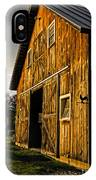 Sunset On The Horse Barn IPhone Case