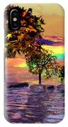 Sunset On Trees And Ocean IPhone Case
